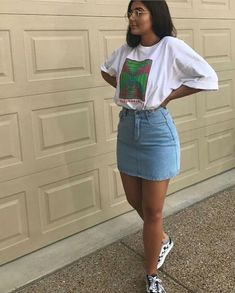 111 summer casual outfits you can't ignore - page 2 ~ Modern House Design Trendy Summer Outfits, Dope Outfits, Casual Summer Outfits, Classy Outfits, Teen Fashion Outfits, Girl Outfits, Look Fashion, Best Jeans For Women, Denim Skirt Outfits