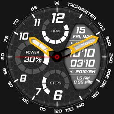 tactical analog and digital watchface, comes with themeable experience, completed with battery watch, steps and HRM indicator. Digital Watch Face, Huawei Watch, Watch Faces, Cool Watches, Apple Watch, Smart Watch, Street Art, Clock, Iphone