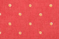 thibaut Fabric Roman Shades, Drapery Fabric, Printed Cotton, Printing On Fabric, Polka Dots, Pink, Fabric Printing, Polka Dot, Pink Hair