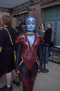 Mass Effect, Samara Cosplay, what awesome is that's the actual model they based Samara off of, her name is Rana McAnear