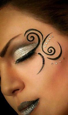 ☆ ☆ ☆ ☆ ☆ ☆, # beautiful make-up Fairy Makeup, Makeup Art, Mermaid Makeup, Makeup Blog, Steampunk Makeup, Leopard Makeup, Fantasy Make Up, Fantasy Hair, Halloween Makeup Looks