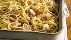 Turn leftover cooked chicken into this creamy, fragrant pasta experience!