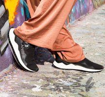 Voile Blanche Sneaker passen perfekt zum aktuellen Trend Harem Pants, Sneakers, Fashion, Tennis, Moda, Harem Trousers, Slippers, Fashion Styles, Harlem Pants