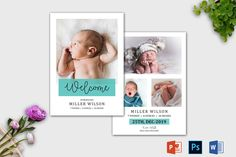 Birth Announcement Template | Newborn Announcement template | Birth announcement card | Birth announcement printable | Baby Announcement Twin Birth Announcements, Birth Announcement Template, Birth Announcement Girl, Announcement Cards, Recipe Book Templates, Cookbook Template, Card Templates Printable, Youth Group Activities, Youth Groups