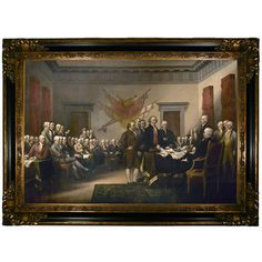 This painting by John Trumbull depicts the signing of the Declaration of Independence and represents one of the most brave events in early American history. I have a print hanging in my office as inspiration to do what is right. Us History, American History, History Facts, Family History, History Images, History Channel, Black History, Curriculum, John Adams