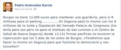 El alcalde de Segovia (@pedroarahuetes) mete la pata en FaceBook #socialmedia #marketing