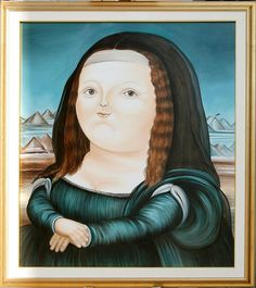 """Rivisitazione """"Monnalisa"""" Botero 80 x 100 cm"""