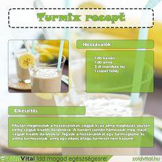 Egy finom banán turmix recept. Készítsd el te is egyszerűen. #turmix #smoothies
