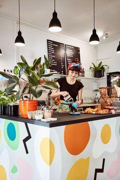 New Brunch Restaurant Interior Spaces Ideas French Coffee Shop, Café Design, Menu Design, Coffee Shop Aesthetic, Cosy Cafe, Brunch Cafe, Coffee Shop Design, Restaurant Interior Design, Cafe Restaurant