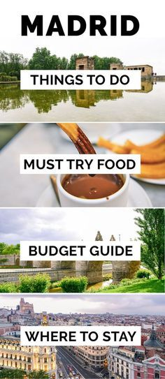 Madrid: Things to Do Where to stay Food to try sample 2 and 3 days itinerary budget and expenses photography tips and more information you need on your visit to the Spanish capital! Menorca, Photography Tips, Travel Photography, Granada, Madrid Travel, Montezuma, Spain And Portugal, Travel Abroad, Travel Packing