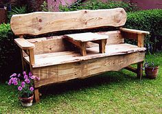 Rustic Outdoor Furniture | ... Bench Seats | Tree Seats | Rustic Swing Seat - Rustic Garden Furniture