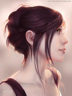 Belíssimo retrato digital por Yu-HanChen #Digital #Portraits