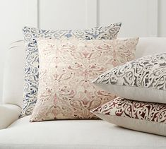 Reilley Embroidered Pillow | Pottery Barn