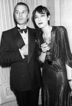Tina Chow and Manolo Blahnik
