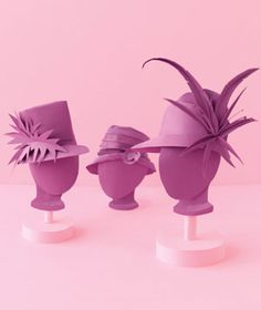 Fancy hats made of paper by Matthew Sporzynski for Real Simple