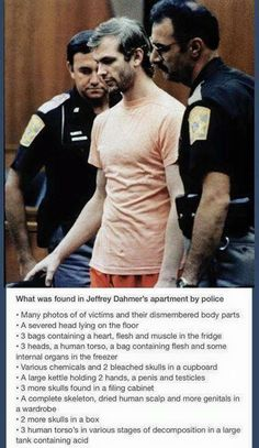 """What was found in Jeffrey Dahmer's apartment by police."""