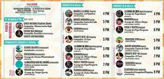 Itinerario del Festival Itinerante en Monterrey, Nuevo Leon Mexico