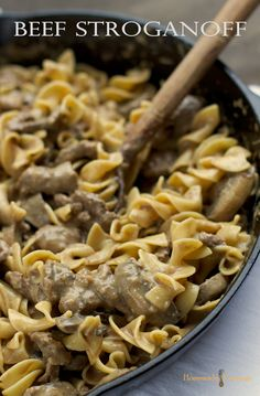 Beef Stroganoff #weeknightmeals #beef...yum! i need to learn how to trim steak better though lol. i will be making it again