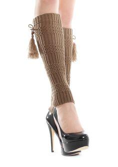 GETRY PEPPY A70 Ciepłe i modne getry z pomponami. Idealne na chłodne dni. - wspaniale otulają nogi  - miłe i miękkie w dotyku