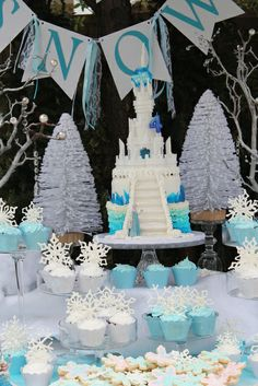 What an amazing Frozen girl Birthday Party!  See more party ideas at CatchMyParty.com!