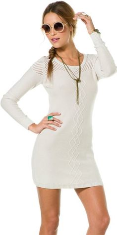 Volcom sweeter sweater dress. http://www.swell.com/Womens-Dresses/VOLCOM-SWEETER-SWEATER-DRESS?cs=GR