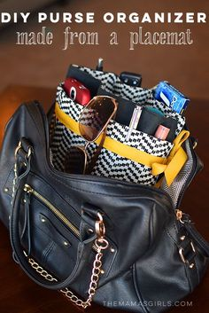 DIY Purse Organizer made from a Placemat! EASY Step by Step tutorial.