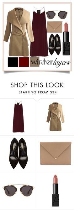 """Winter Layers: Slip Dress"" by fashionfinity8 ❤ liked on Polyvore featuring moda, TIBI, Nicholas Kirkwood, Alexander Wang, Christian Dior, NARS Cosmetics, women's clothing, women's fashion, women y female"