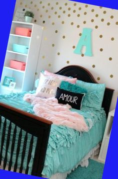 If you're stumped when it pertains to embellishing your daughter's bedroom, here are some teenage lady bedroom ideas that are sure to beauty her. When... Woman Bedroom, Bedroom Bed, Dream Bedroom, Girls Bedroom, Bedroom Ideas, Teen Bedding Sets, Teen Girl Bedding, Teenage Girl Bedrooms, Table Accessories
