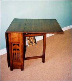 Replica of an oak gateleg table designed by Wyburd Studios for Liberty circa 1890.