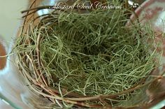 How to make a bird nest.  Fashioning a Nest - Miss Mustard Seed