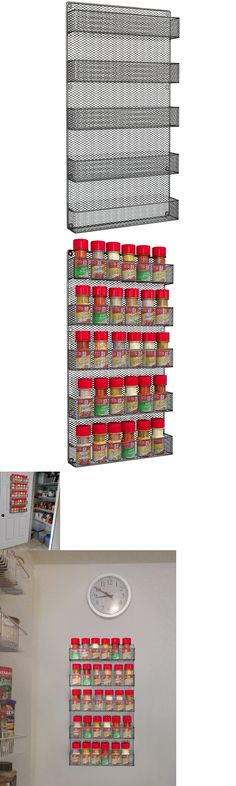 Spice Jars And Racks 20646: Hanging Spice Rack Wire Kitchen Organizer Wall  Mount Tiered Large Herb Storage  U003e BUY IT NOW ONLY: $56.52 On EBay!