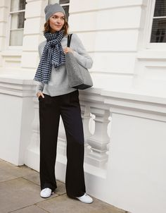 Made for us in Italy from pure-wool yarns, this monochromatic scarf will add warmth without weight during the colder months. In a black and white gingham check, it has raw fringed edges for a little rustic detail when it's wrapped around your nec Checked Scarf, The White Company, Scarf Hat, Gingham Check, Wool Yarn, Normcore, Pure Products, Black And White, Chic