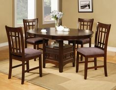 Ariana 5 Piece Dinette Table And 4 Chairs 79900 42 X 6078 30 H W 18 Leaf Chair 11900 213 205 395 C