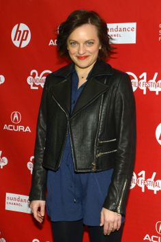 """Elisabeth Moss at the premiere of """"Listen Up Philip"""" at the Sundance Film Festival in Park City. Elisabeth Moss, Sundance Film Festival, Park City, Festivals, Photo Galleries, Salt, Leather Jacket, Celebrities, Fashion"""