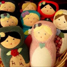 Knitted Matryoshka doll - love these!
