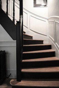 Peindre un escalier en bois pour plus de modernité #DécorationCadre