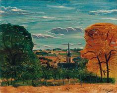 Vue de Donnemarie-en-Montois,1942 ,by Andre Derain
