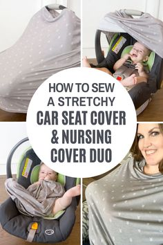 Have you seen these Stretchy Car Seat Covers??  I'm sure you have….they're kind of everywhere!  They're a slightly curved tube of fabric that stretches around the car seat, creating a cocoon-like barrier around your baby.  But not only do they serve as a car seat cover, they also double as a NURSING COVER…..yes!!! And, were sharing how you can sew your own stretch car seat cover and nursing cover. #nursingcover #carseatcover