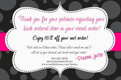 ThirtyOne Back Order Coupon DIY Printable by by SimplySprinkled, $10.00
