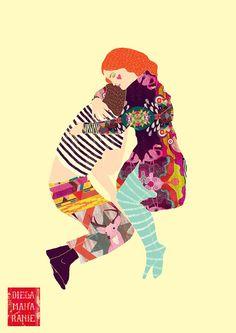 Diela Maharani   Psychedelic Technicolour Worlds inspiration