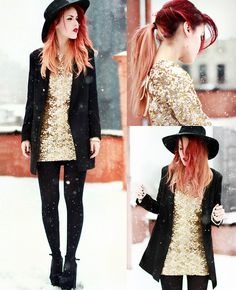 In the Falling Snow. (by Lua P) http://lookbook.nu/look/4710789-In-the-Falling-Snow