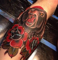 bear by Rogelio Robles at To the Grave Tattoo's in Yuba City, Ca