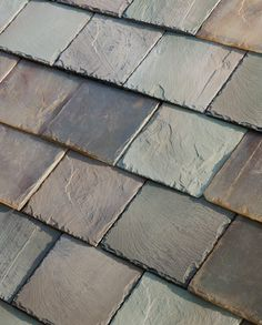 Slate Glass - one of four styles solar panel roof shingles
