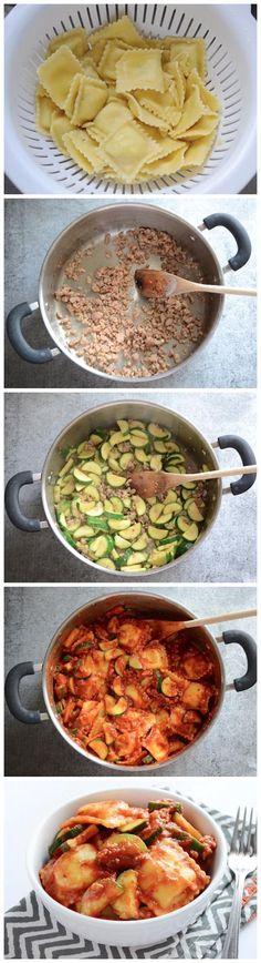 Zucchini Sausage Ravioli Recipe