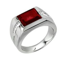 Lab Created Ruby Signet Ring, Men's Gemstone Ring, Men's Engagement Ring & Wedding Bands, Engraved Men's Ring, Diamond Ring For Men Mens Gemstone Rings, Engagement Rings Couple, Gents Ring, Jade Ring, Unique Rings, Bracelets For Men, Signet Ring, Fashion Rings, Silver Jewelry