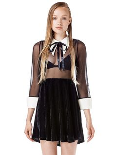 The Amelia dress from unif. Wouldn't pay 100 bucks for it, but I think it would make a kickass dress for a Halloween costume as a sexy Wednesday Adams. Or casual wear, of course.
