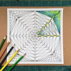 Printable Coloring Page  Octagon Web by EvvieMarin on Etsy