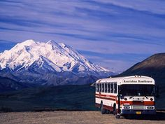 To keep the pristine quality while allowing thousands of people to visit, private vehicles are not allowed in the park. The bus pictured here is headed to the end of the road 110 miles in the pak to the Kantishna Roadhouse. An absolutely wonderful trip. Call me and ask about it