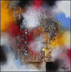 """A découvrir au 8ème Salon de Peinture toutes techniques en ligne sur www.myrankart.com  """"Rubric"""", 60 X 60 Cm, Collage Et Acrylique Sur Toile, 2016. by Marco Lef"""