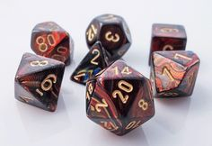 Scarab Dice (Blue Blood) RPG role playing game dice